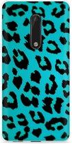 Nokia 5 Hoesje Luipaard Groen Zwart