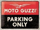 Moto Guzzi Parking Only Metalen Bord 30 x 40 cm