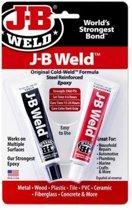JB-Autoweld, Zeer sterk belastbaar Vloeibaar Staal, met staalvezel versterkt Epoxy Koud-lasmiddel