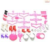 45 delige Accessoire set voor de Barbie pop