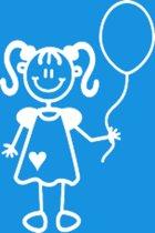 Meisje met ballon, autosticker