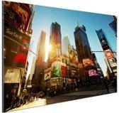 Zonsopgang in Manhattan Aluminium 120x80 cm - Foto print op Aluminium (metaal wanddecoratie)