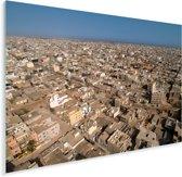 Een luchtfoto van de Afrikaanse huizen in Dakar Plexiglas 160x120 cm - Foto print op Glas (Plexiglas wanddecoratie) XXL / Groot formaat!