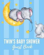 Twin's Baby Shower Guest Book