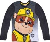 Paw Patrol T-shirt met lange mouw - grijs - Maat 104