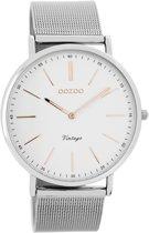 OOZOO Vintage C7387 - Horloge - Staal - Zilverkleurig - 40 mm