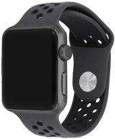 123Watches.nl bandje - Apple Watch Series 1/2/3/4 (42&44mm) - Zwart - S/M