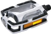 Contec CP-029 Fietspedalen Zilver Gekleurde Aluminium Body - Geïntegreerde reflector