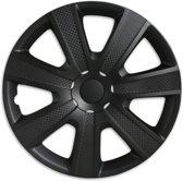 Wieldoppen 14 inch - Carbon zwart - 4 stuks