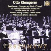"Beethoven: Symphony No 9 ""Choral"" /  Klemperer, Philharmonia"