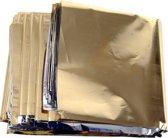 Noodpakket.Nu Reddingsdeken | 3 stuks | Isolatiedeken 160 x 210 cm | Goud/Zilver