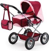 Bayer Poppenwagen met Luiertas - Rood/Roze