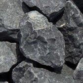 Intergard Breukstenen zwarte basalt voor schanskorven 90/150mm 1350kgs.