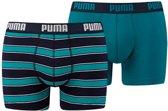 PUMA Rugby Stripe YD Boxershort - 2-pack - Ocean Depths - Maat XL