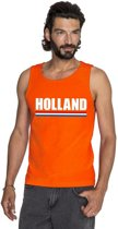 Oranje Holland supporter tanktop shirt/ singlet heren XL