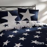 Day Dream Stars dekbedovertrek - tweepersoons - 200x200/220 cm - Blauw