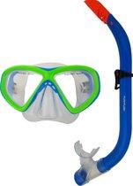 Tunturi Snorkelset - Duikbril met Snorkel - Junior - Groen/Blauw