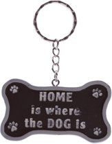 Sleutelhanger 'HOME is where the DOG is'