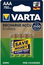 Varta 56673 101 404 oplaadbare batterij/accu Nikkel-Metaalhydride (NiMH) 750 mAh 1,2 V