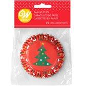Wilton Cupcake Vormpjes Kerstboom pk/75