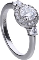 Diamonfire - Zilveren ring met steen Maat 16 - Classics - Zirkonia - Entourage