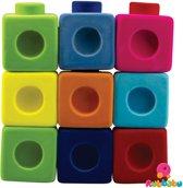 Rubbabu - Rubbablox bouwblokken (9 blocks and 14 verbindingsblokjes)