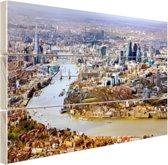 Luchtfoto van Londen Hout 120x80 cm - Foto print op Hout (Wanddecoratie)