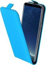 Mobiparts Lichtblauw Premium TPU Flipcase Samsung Galaxy S8