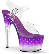 EU 39 = US 9 | STARDUST-708T | 7 Heel, 2 3/4 PF Ankle Strap Sandal w/RS Studded Bottom