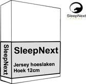 Luxe Hotel Jersey Topper hoeslaken - 90x200/210cm - wit
