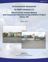 Environmental Assessment for Basf Catalysts, LLC Electric Drive Vehicle Battery and Component Manufacturing Initiative Project, Elyria, Oh (Doe/Ea-1717)