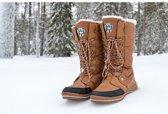 Snowboots - Sneeuwschoenen - Moonboots Winter grip schoenen Sneeuw laarzen - Bruin Dames Maat 40