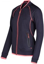 Dames Vest Gerberia Full Zip Top After Dark