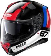 Nolan N87 Plus Distinctive 28 Glossy Black Red Blue White  Integraalhelm - Motorhelm - Maat M