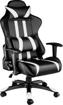 Tectake - Gaming chair -  bureaustoel Premium racing style zwart/wit