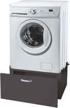 Wasmachine sokkel - verhoger - 33 cm met lade - zwart