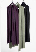Loop.a life - Wool2 Scarf NewDuurzame Sjaal - Zwart - Maat -