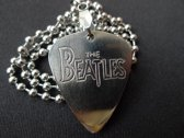 The Beatles hand gegraveerde RVS plectrum ketting