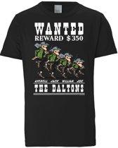Logoshirt T-Shirt Lucky Luke - The Daltons - Wanted