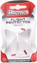 Harrows Darts Flight Protector Aluminium Per 3 Stuks Rood