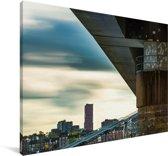 Uitzicht op de gebouwen in Nijmegen Canvas 60x40 cm - Foto print op Canvas schilderij (Wanddecoratie woonkamer / slaapkamer) / Europese steden Canvas Schilderijen