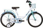 Vermont Girly - Kinderfiets - 18 Inch - Blauw/Wit