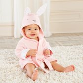 Baby badjas, roze, konijn