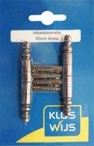 KLUSWIJS inboorpaumelle 65mm brons klassieke vormgeving