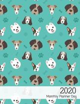 2020 monthly planner dog: 12-Month Weekly/Monthly Planner Calendar - January 2020 through December 2020