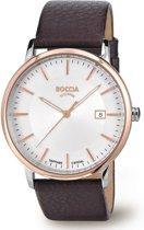Boccia Titanium 3557-04 Horloge - Leer - Bruin - 40 mm