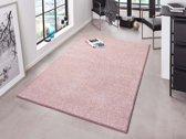Modern effen vloerkleed Pure - roze 80x150 cm