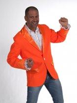 Oranje colbert voor heren 52-54 (m)