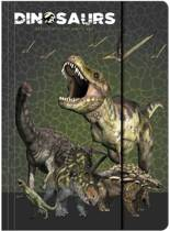 Animal Pictures Dinosaurus - Elastomap - A4 - Groen