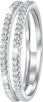 Lucardi - Zilveren ring met zirkonia